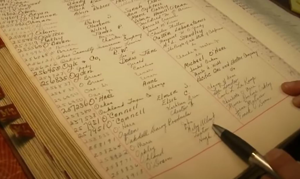 Tracking Down Information in a book of records