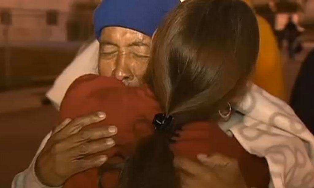 Isaac Avila reuniting with his sister