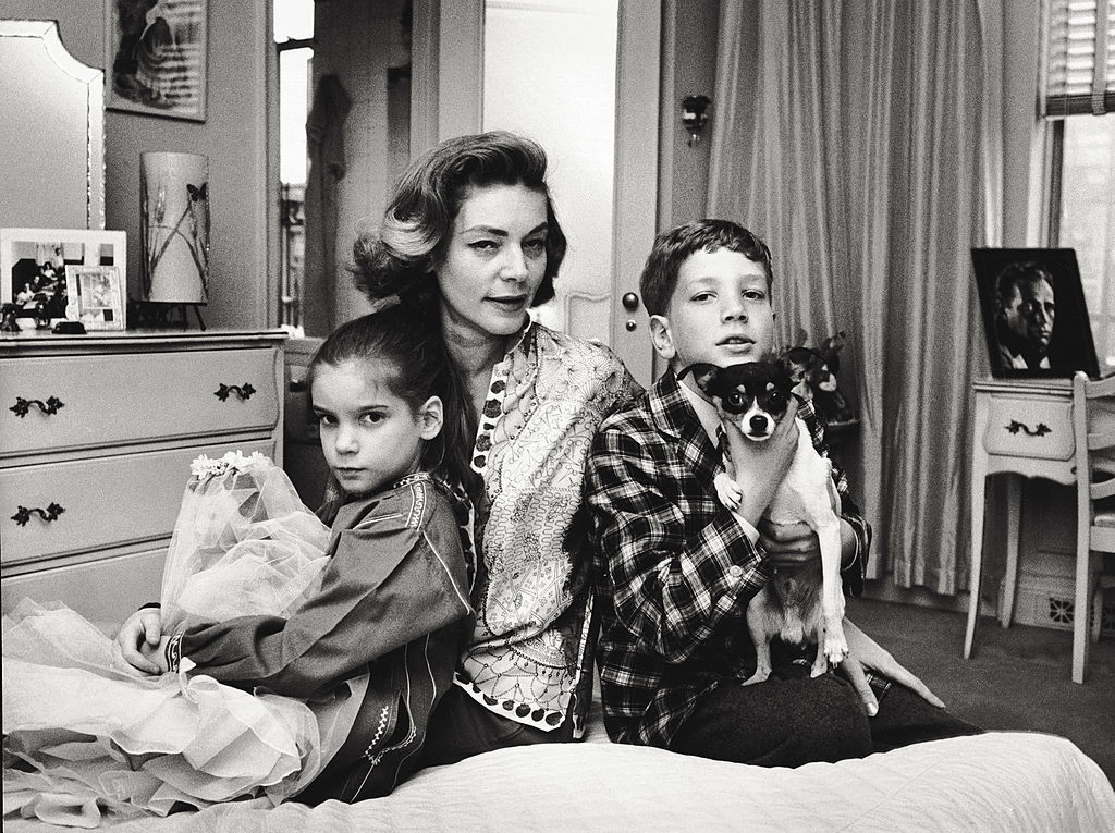 Bacall with children