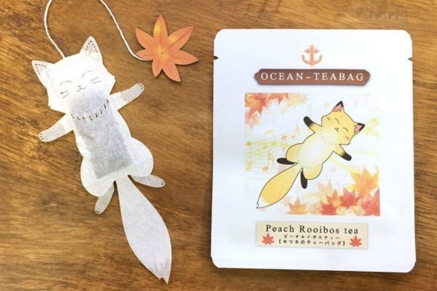 fox tea bag thing cute ocean creations