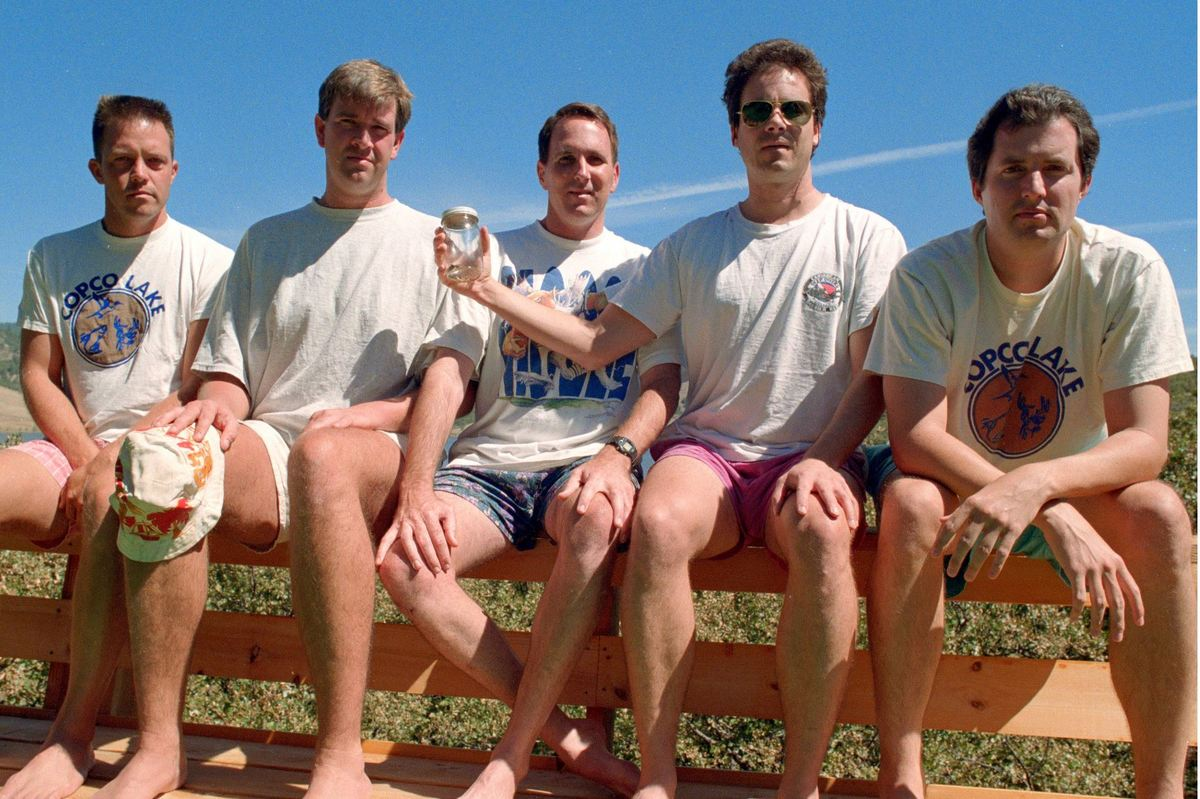 The friends' fourth photo in 1997