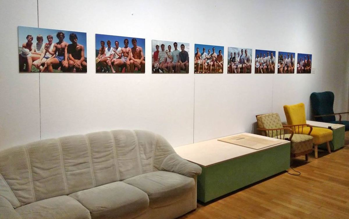 The friends' photos in Museum fur Kommunikation in Frankfurt, Germany