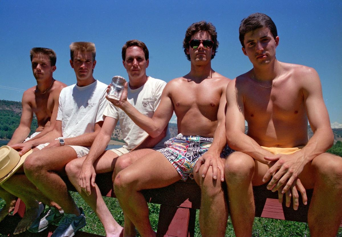 The friends' second photo in 1987