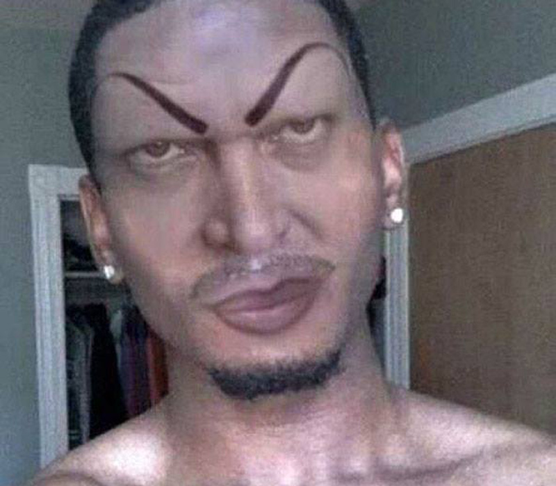 a man with evil eyebrows