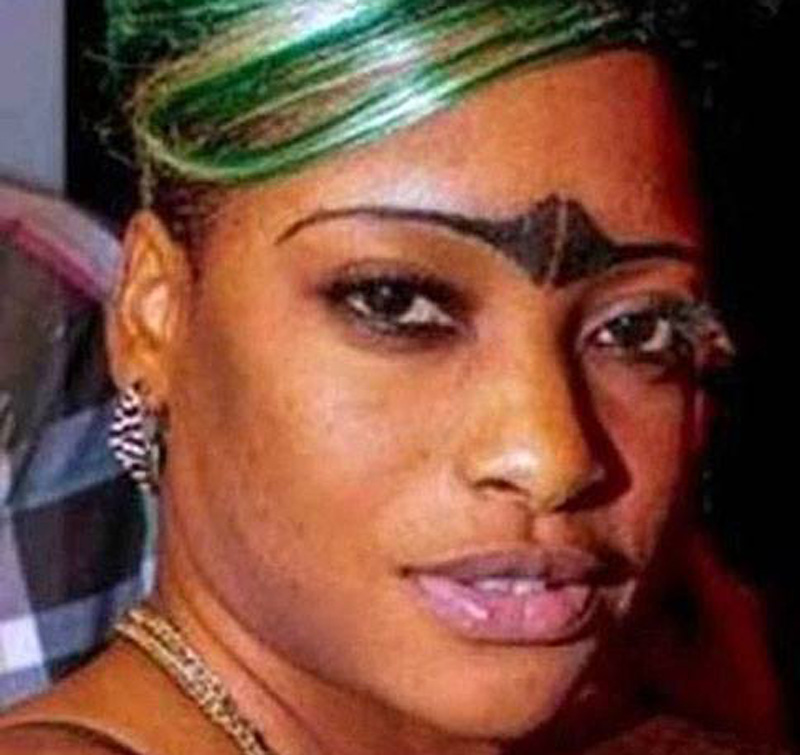 a lady with questionable eyebrows