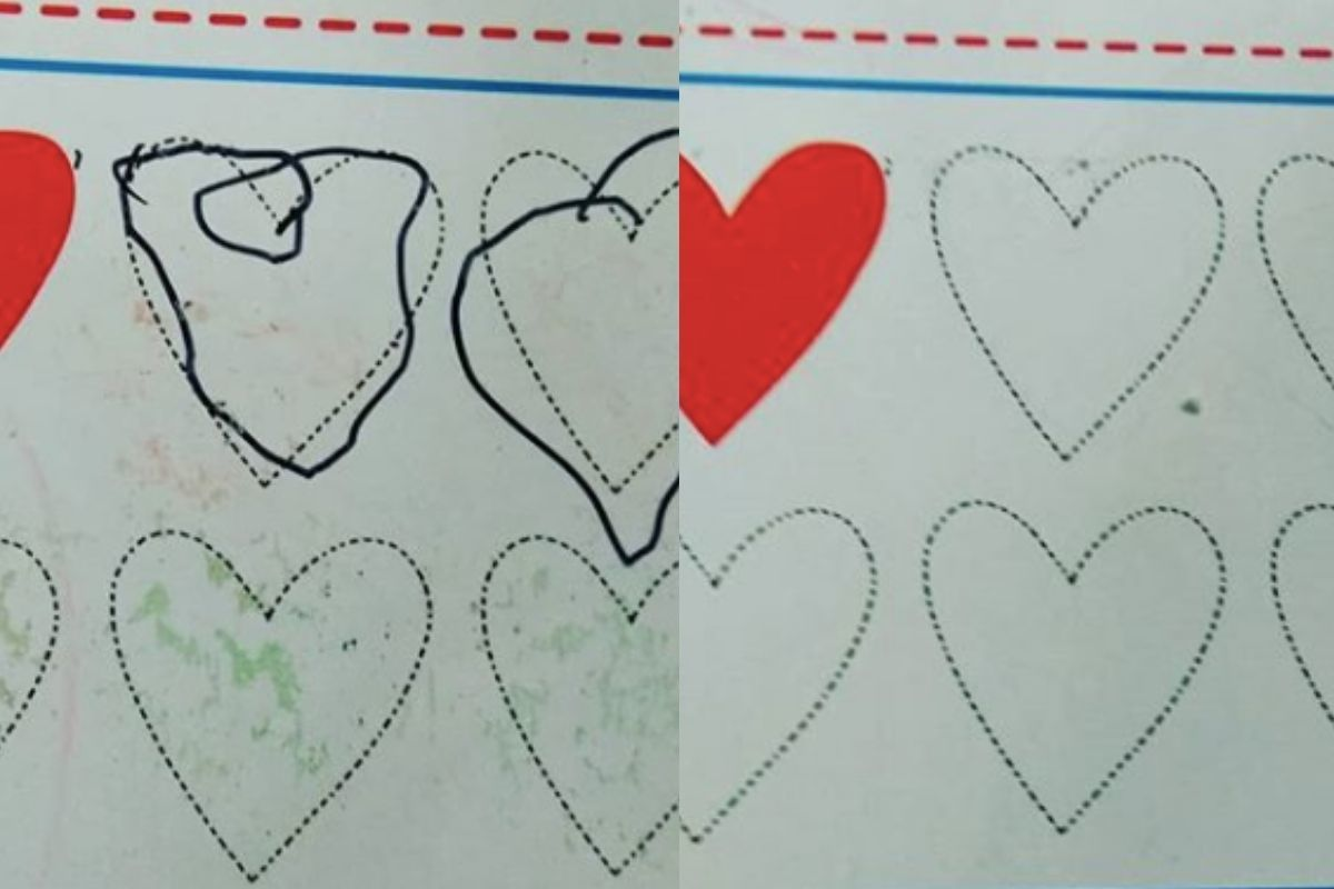 hearts and permanent marker before and after