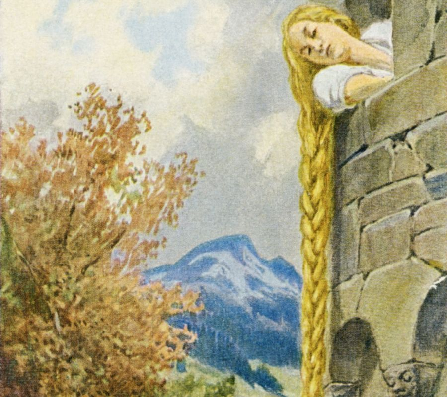 Rapunzel story is originally from Grim Story