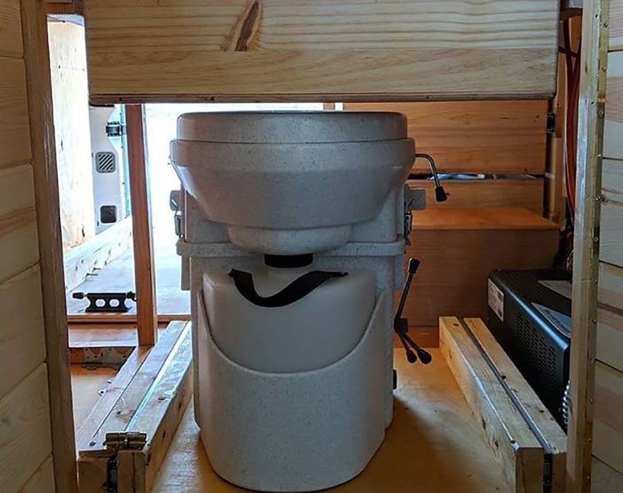 toilet that you have to use in tiny house