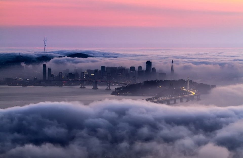 fog covering san francisco