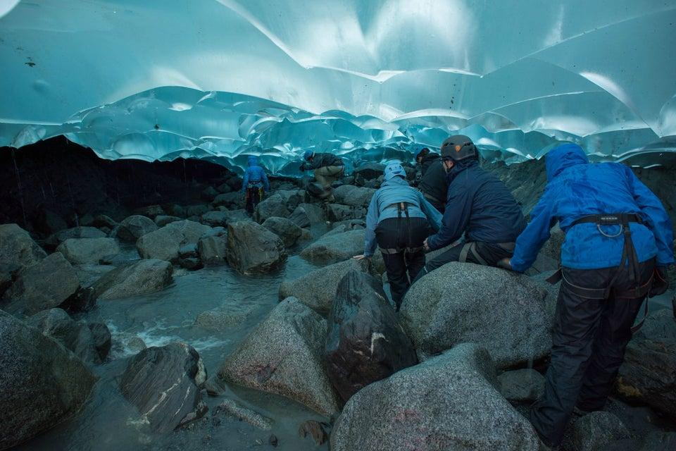 Mendenhall Glacier outside of juneau alaska