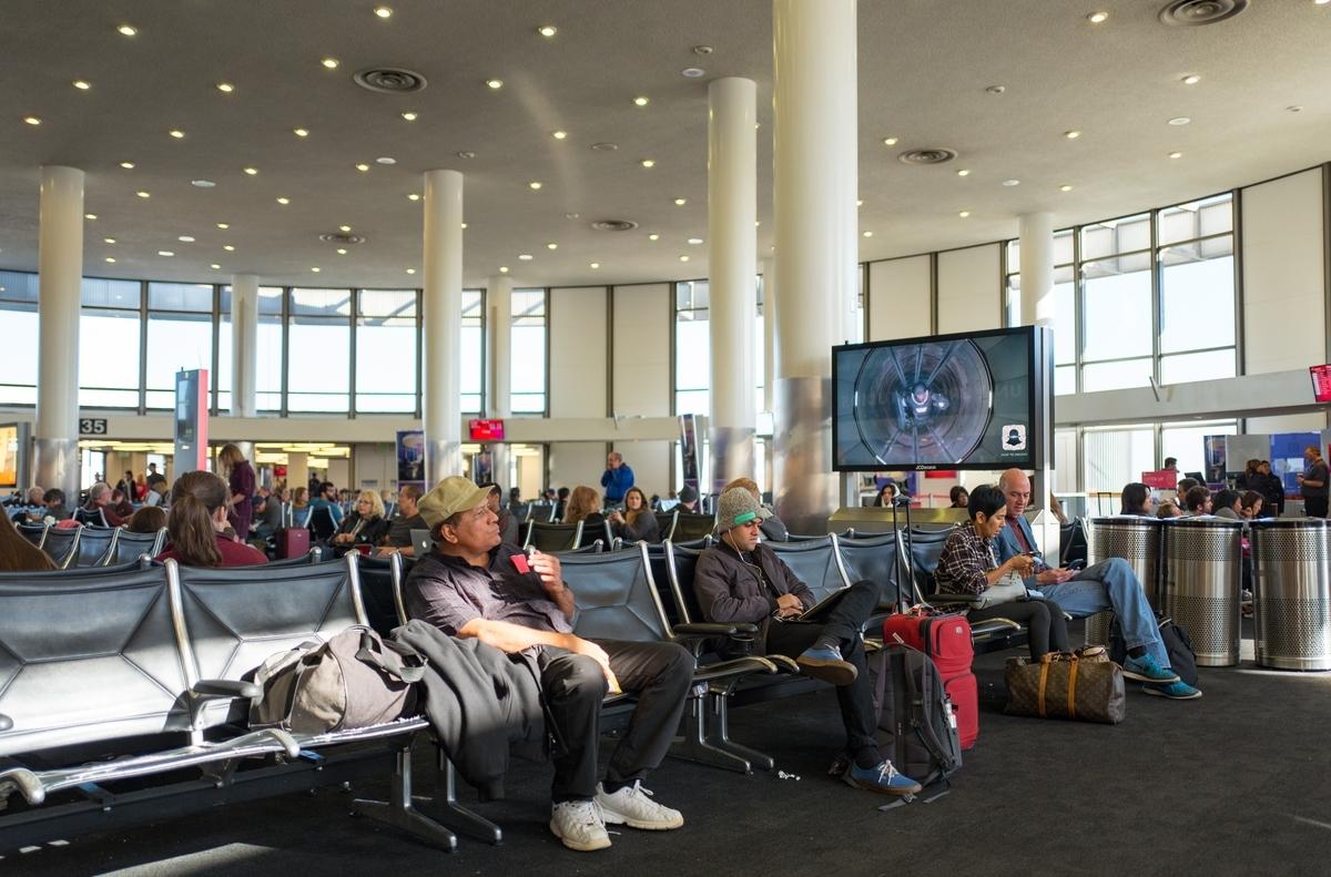 waiting at airport gate