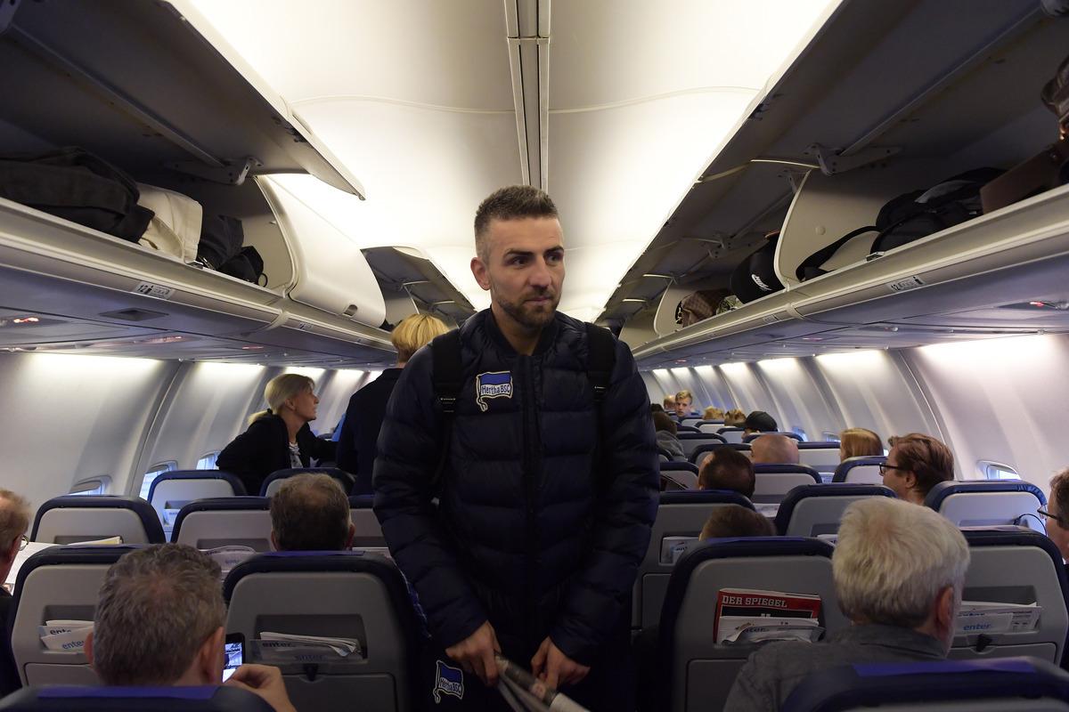 boarding a plane in peace