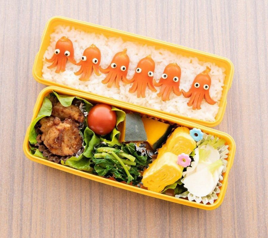 Cute octopus bento