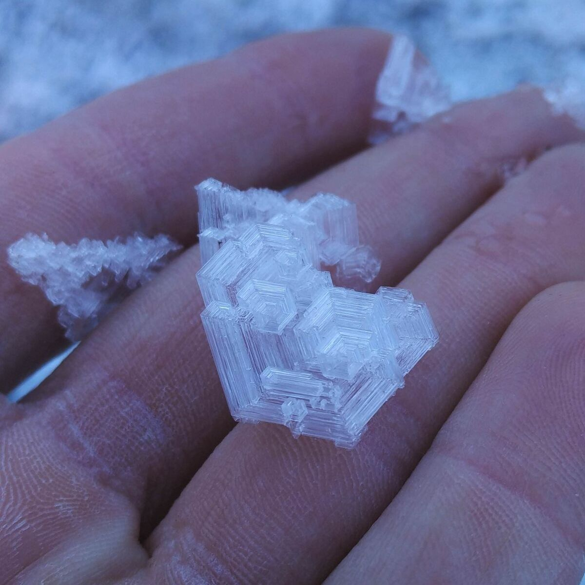 large ice crystal found in switzerland