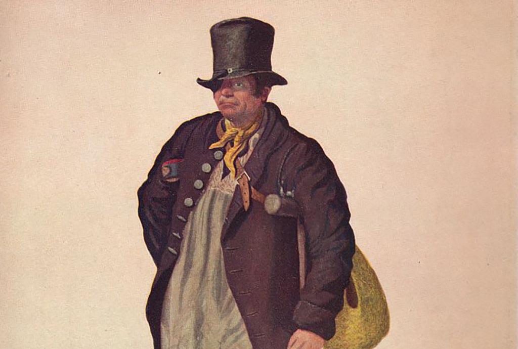 Man wearing eye patch