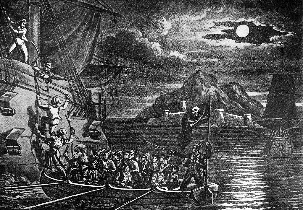 Pirates boarding ship