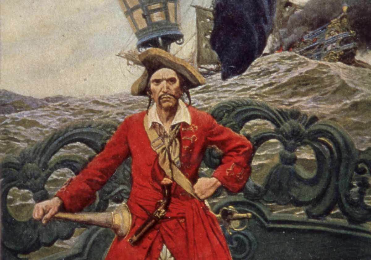 Painting of the pirate William Kidd is in Harper's Magazine