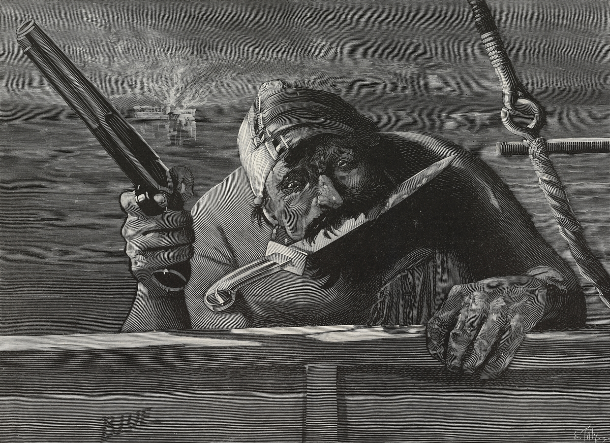 Political poster of a Spanish pirate from 1898