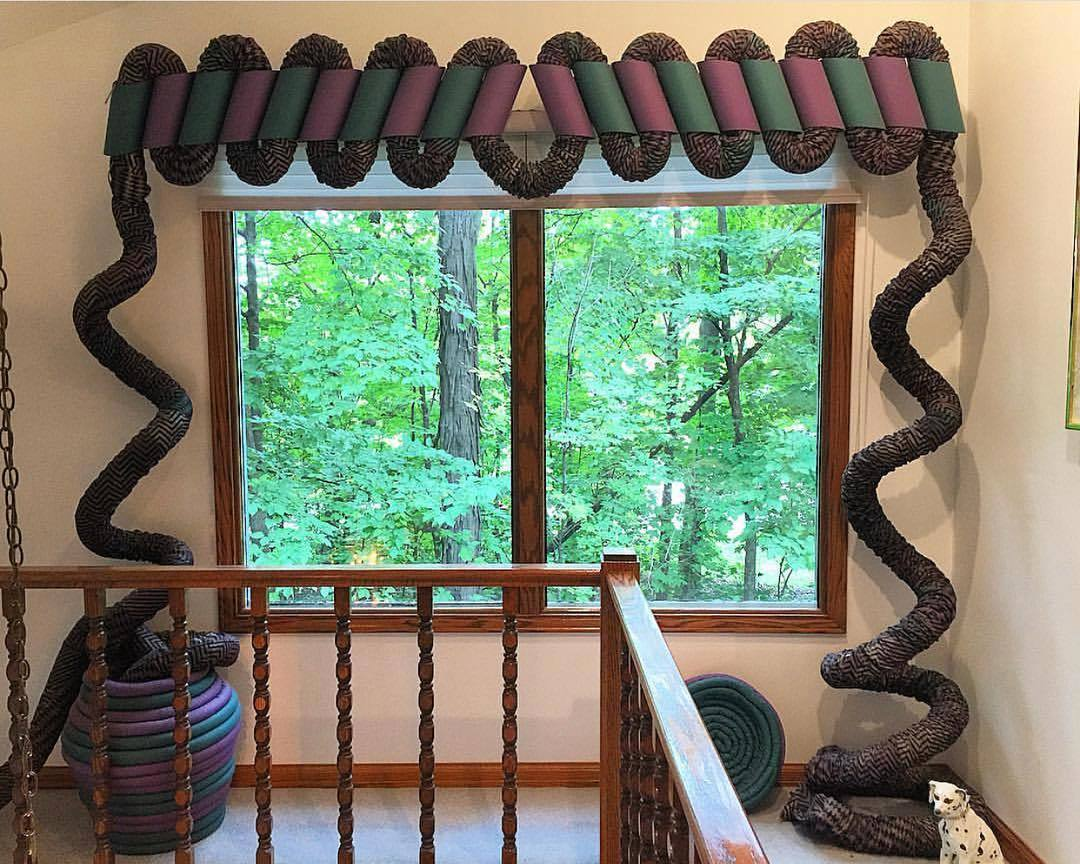curtains made to look like snakes