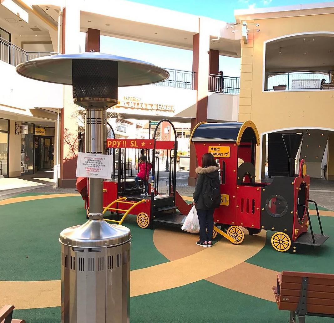 outdoor heater at playground
