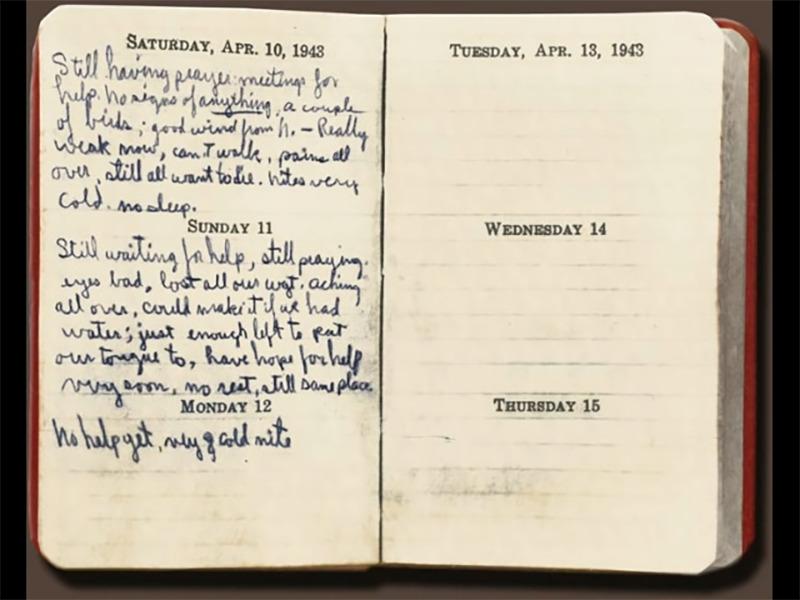 Lieutenant Toner's diary lists his final entries.