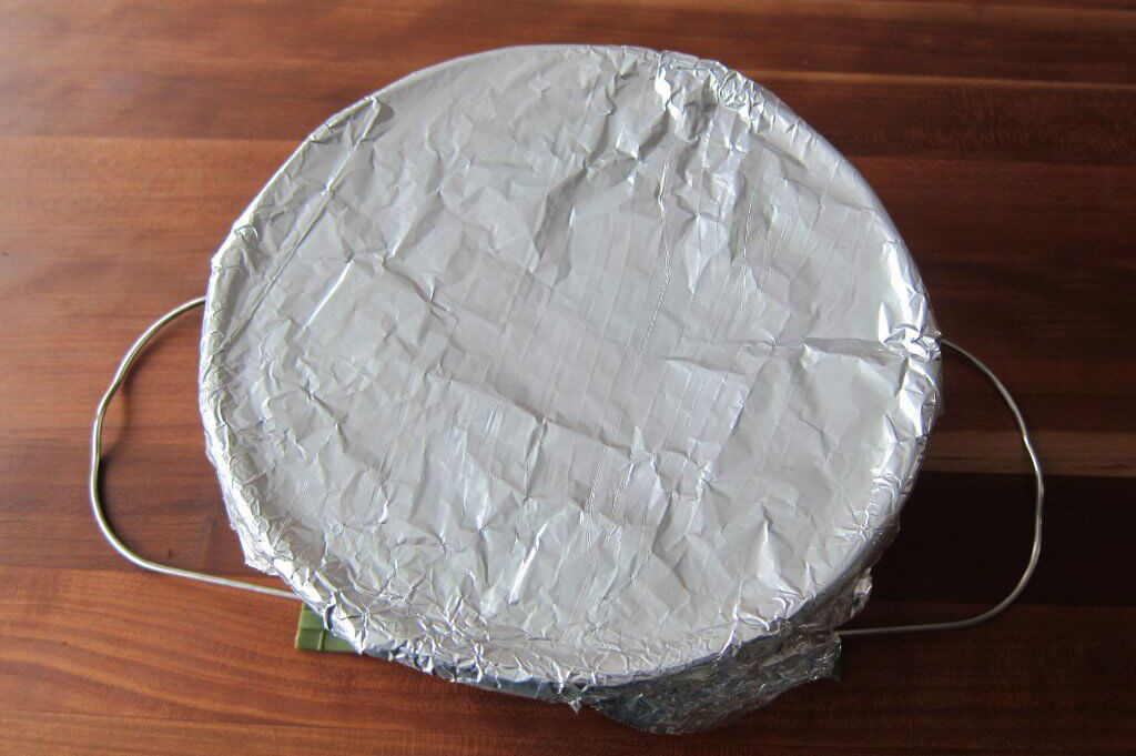 Foil covering paint can