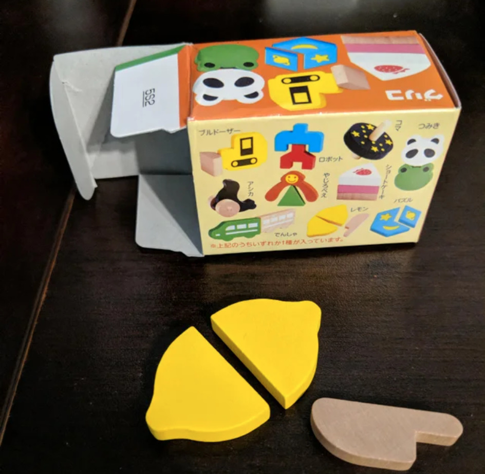 children's toy is wooden lemon and knife