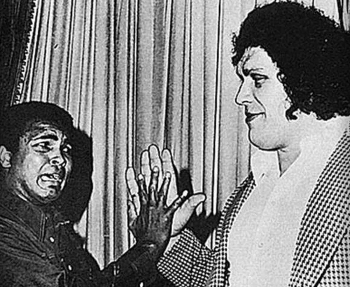 andre the giant and large hands