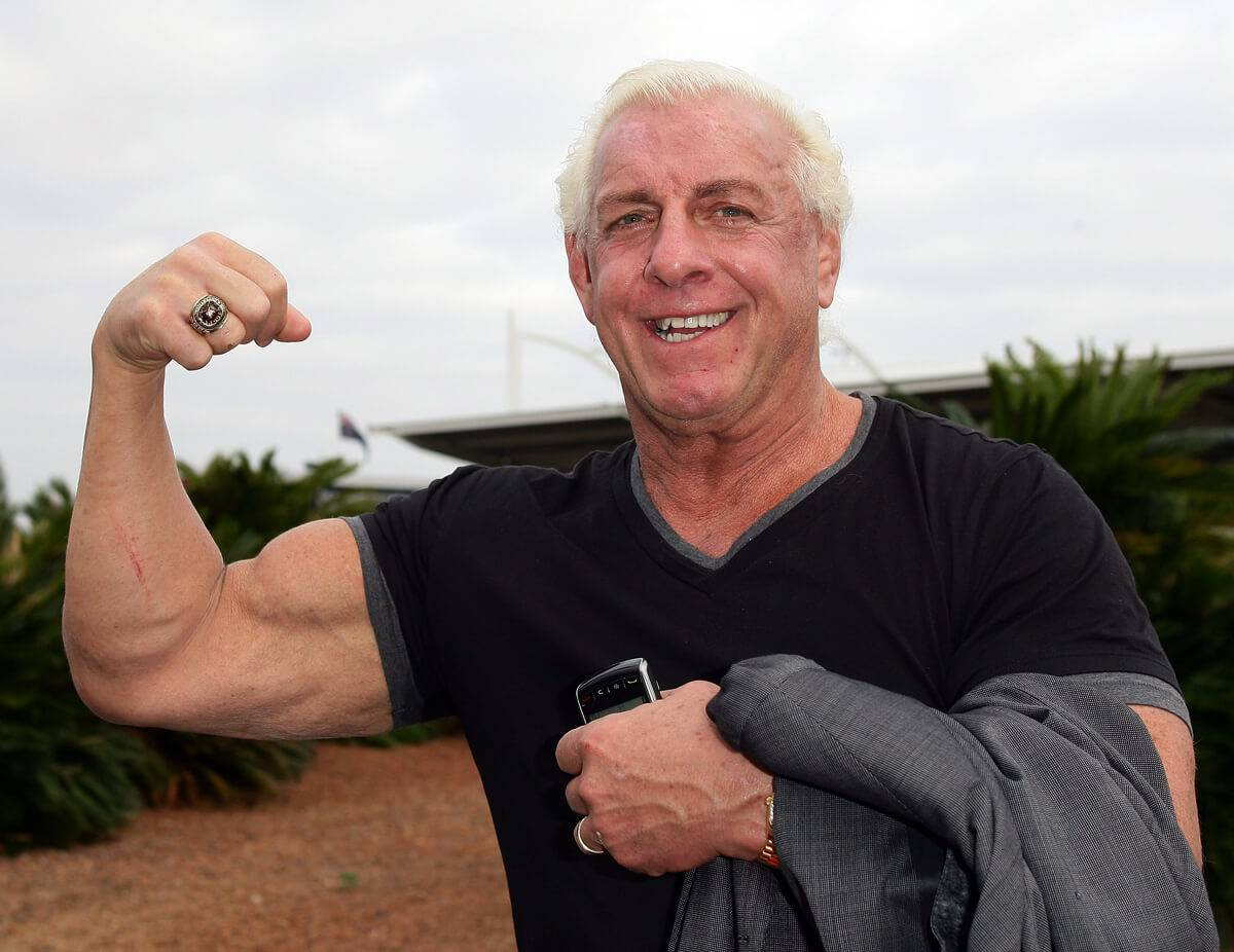 ric flair flexing arm