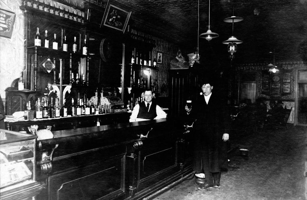 Man and bartender