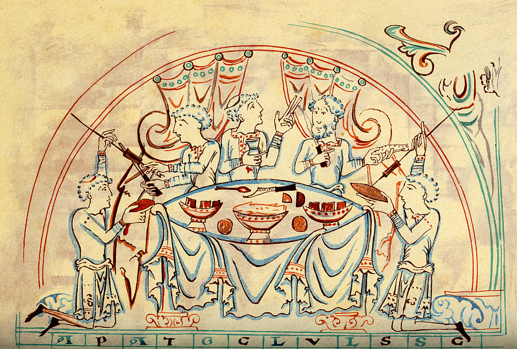Nobles banqueting