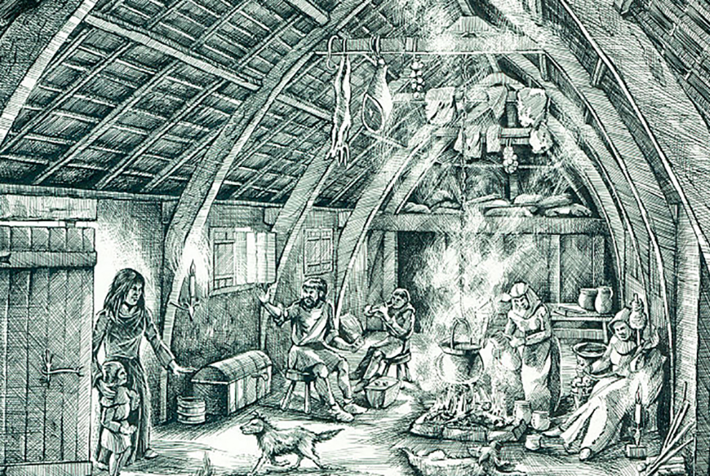 Medieval peasant home