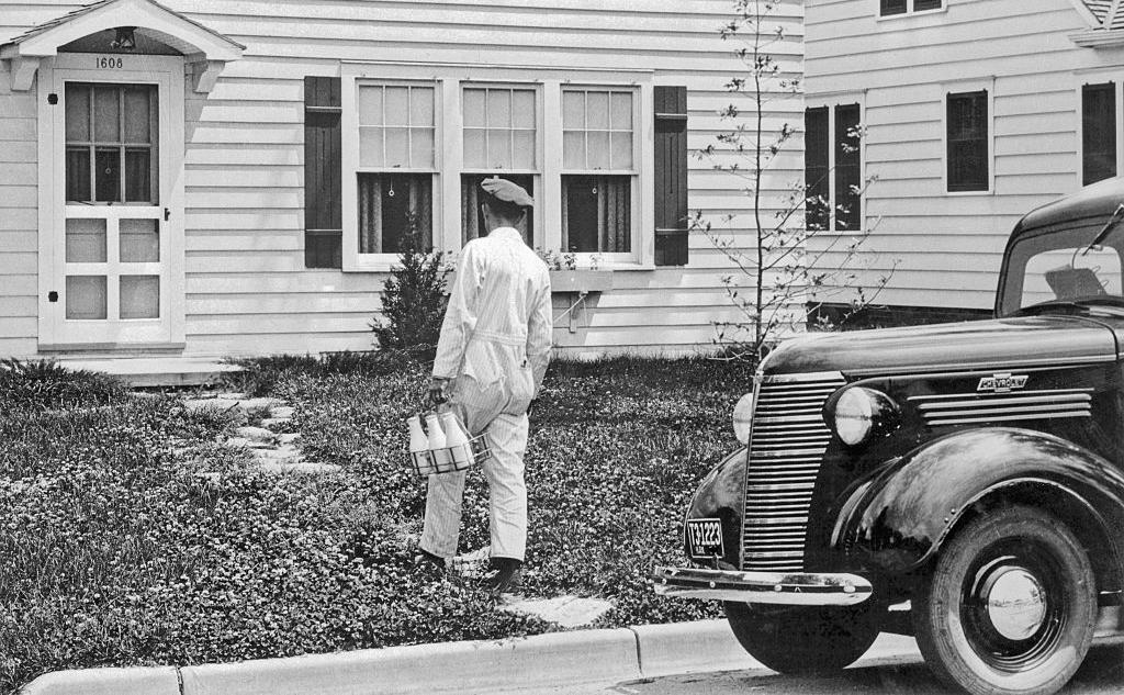 Man delivering milk