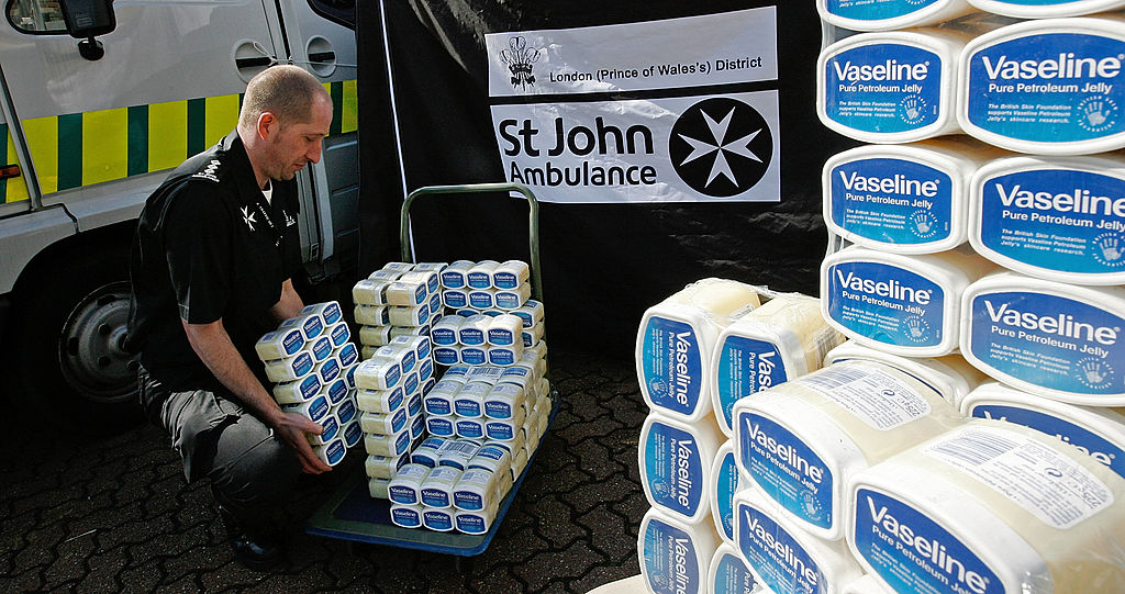 cases of petroleum jelly
