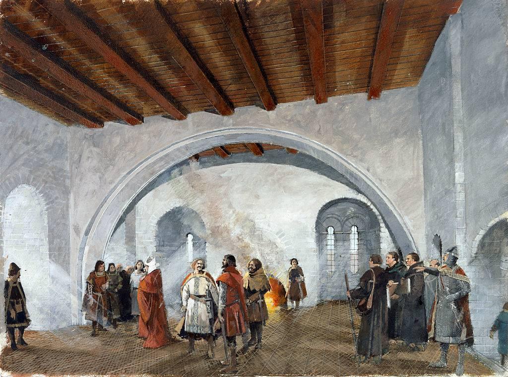 Men in a castle