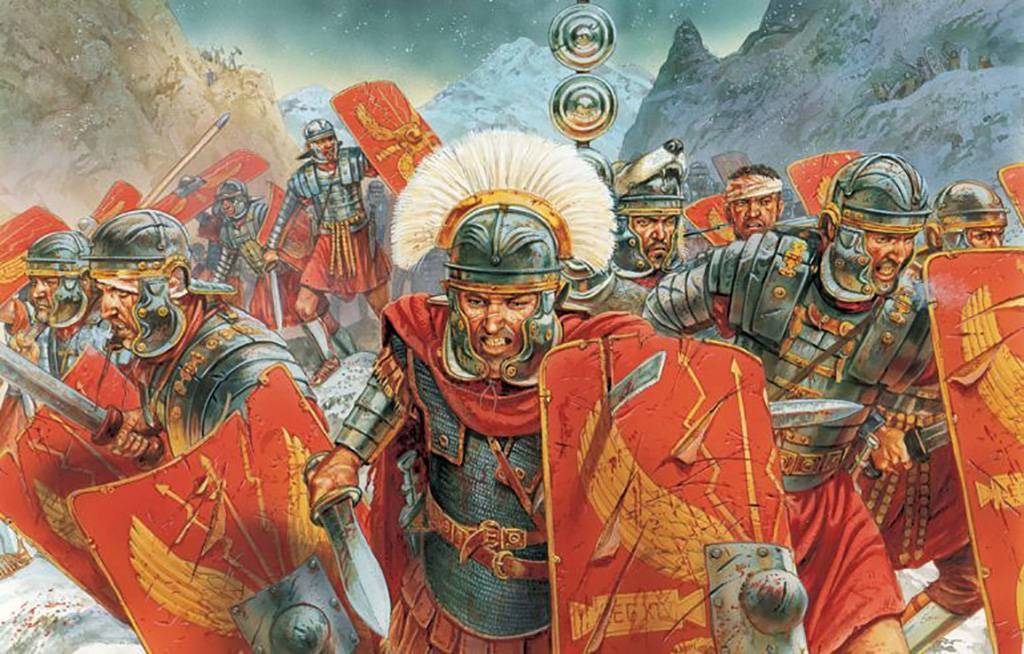 Roman soldiers charging