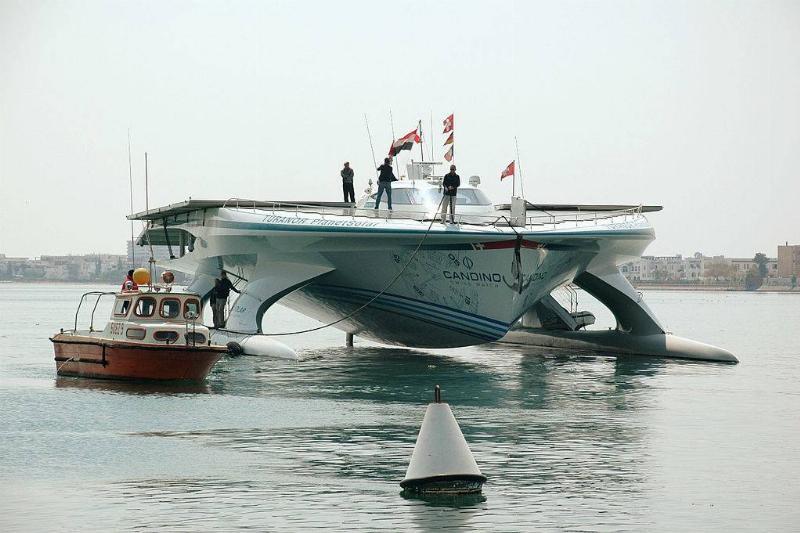 big boat on ocean
