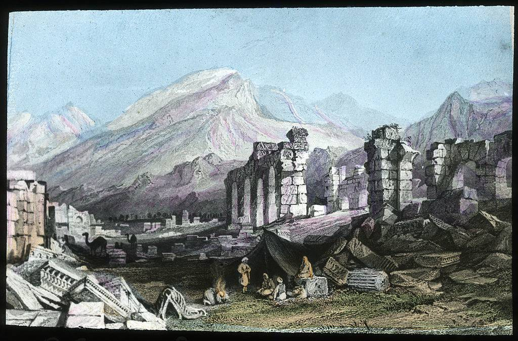 Painting of the ruins at Laodicea