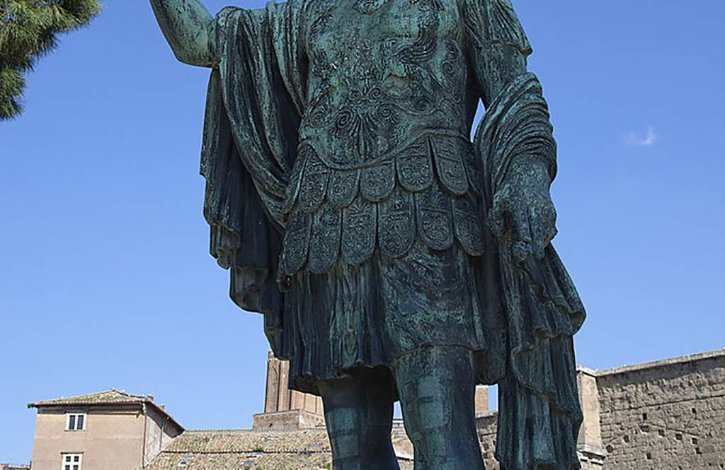 Statue with armor