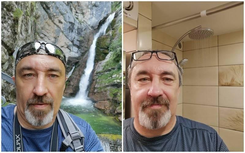 man recreates waterfall photo with shower