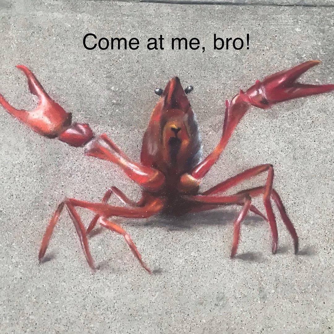 crab chalk