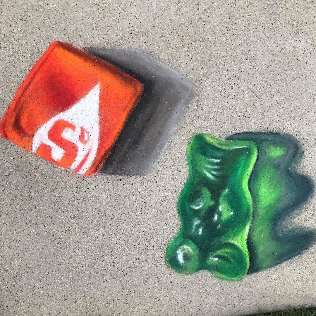 chalk drawing candy