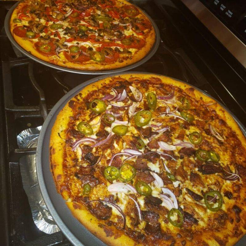 homemade pizzas look amazing