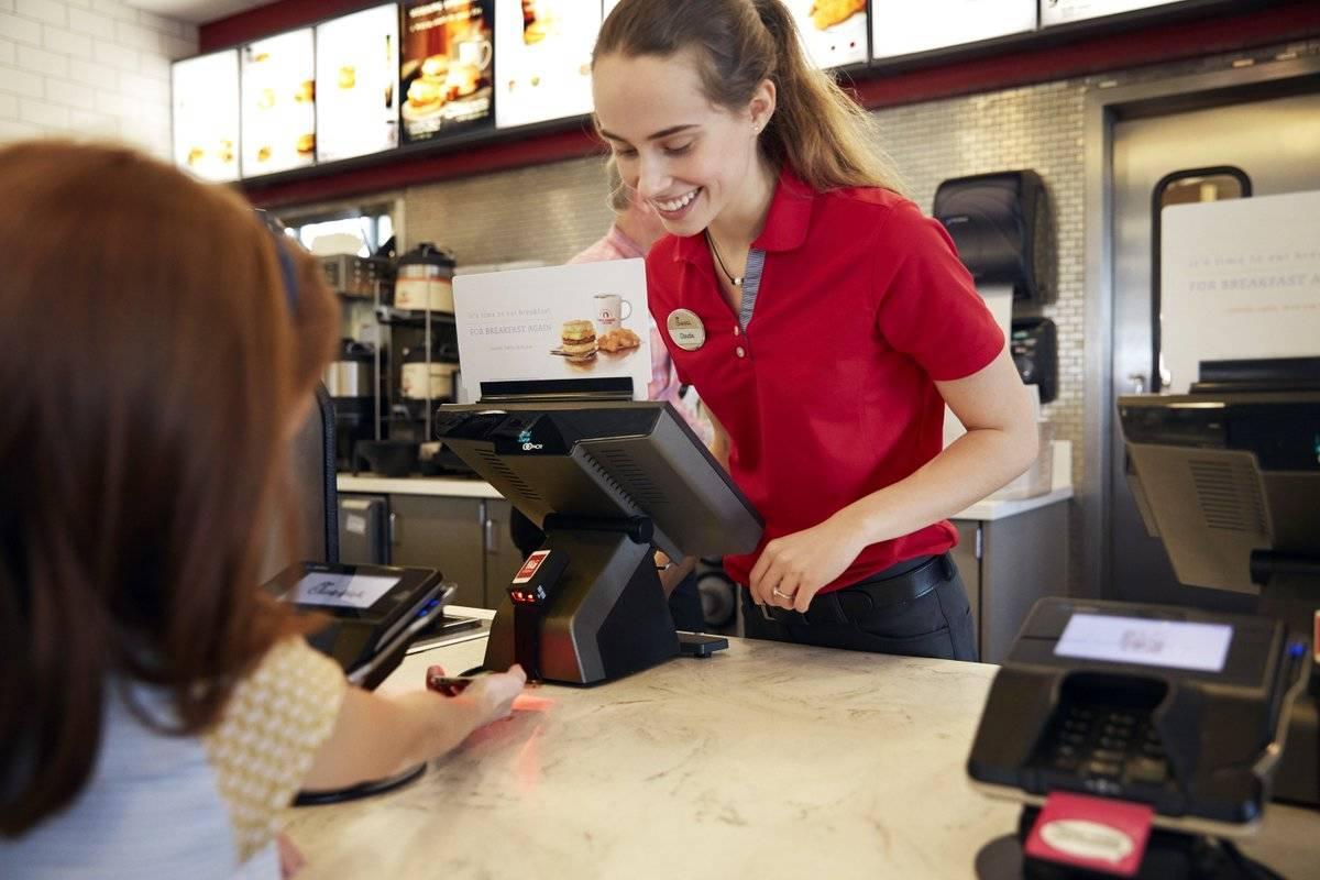 Female cashier