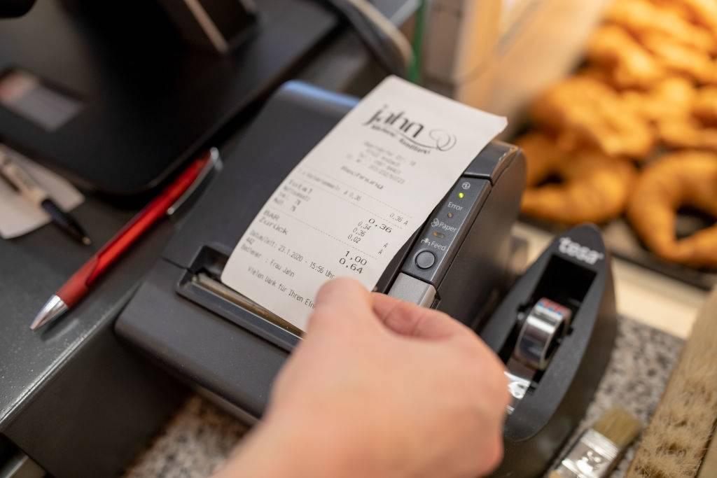 Man with receipt