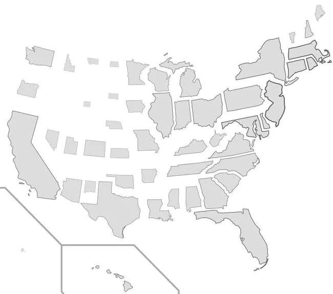 The US If States Were Sized By Population Density