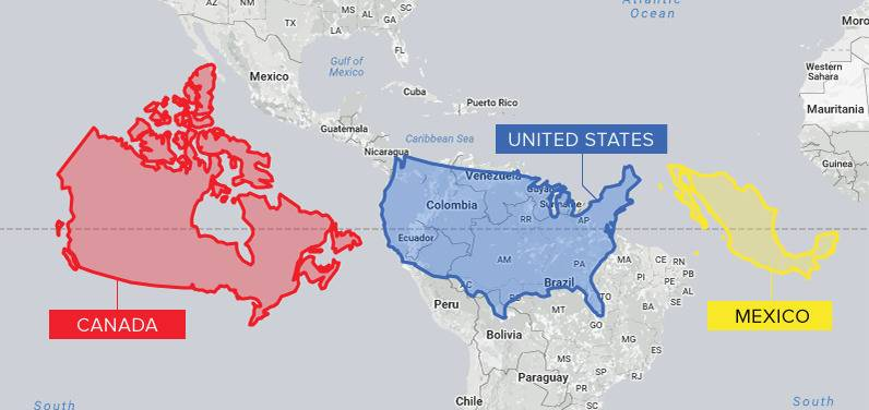 Canada and US and Mexico at Scale