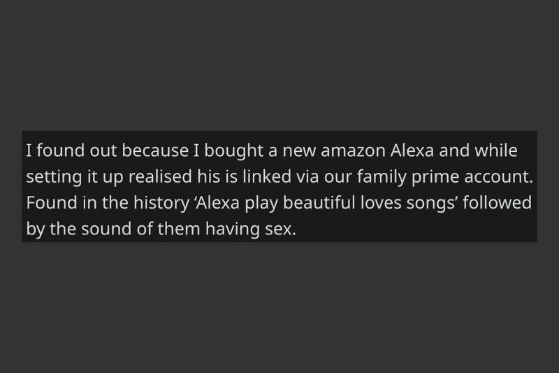 alexa recorded affair for wife