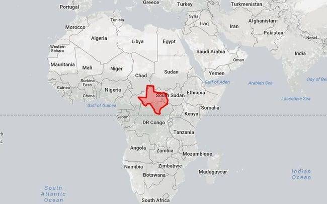 Texas Doesn't Look All That Big Next To Africa