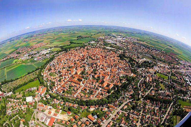 bavarian town built in a meteor crater